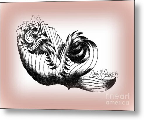 Ink Metal Print featuring the drawing Whirling Dervish by Mademoiselle Francais