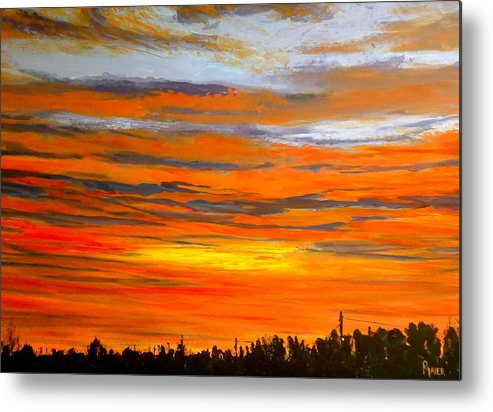 Sunrise Metal Print featuring the painting Mornin by Pete Maier