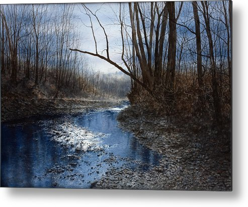 Water Metal Print featuring the painting Skippack Blues by Steven J White PWS