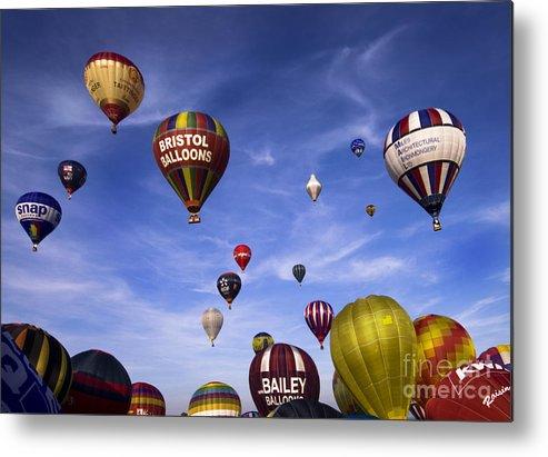 Balloon Fiesta Metal Print featuring the photograph Balloon Fiesta by Angel Ciesniarska