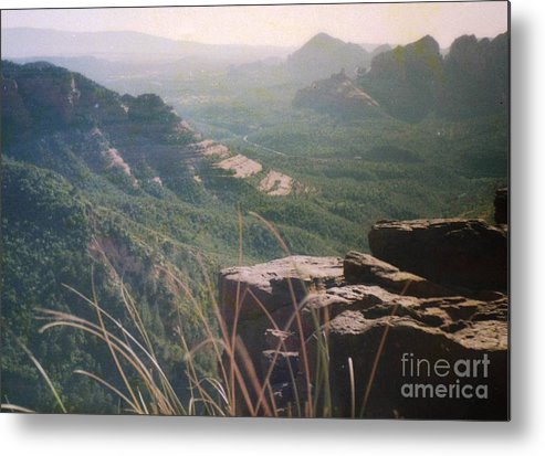 Mountain Metal Print featuring the photograph Sedona Mesa by Ted Pollard