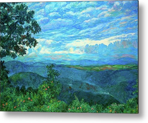 Mountains Metal Print featuring the painting A Break In The Clouds by Kendall Kessler