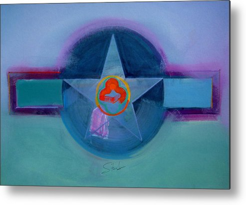 Star Metal Print featuring the painting American Spiritual by Charles Stuart