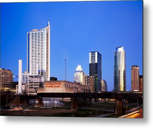 Austin Metal Print featuring the photograph Austin Downtown by Peter Shugart