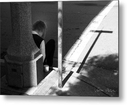 Cross Metal Print featuring the photograph Break Time by Sabine Stetson