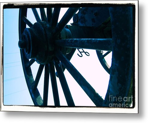 Wheel Metal Print featuring the photograph Cannon by Jessa DeNuit