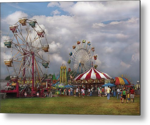Savad Metal Print featuring the photograph Carnival - Traveling Carnival by Mike Savad