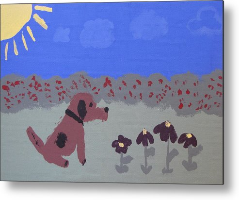 Acrylic Metal Print featuring the painting Childlike Imagination by Melissa Parks