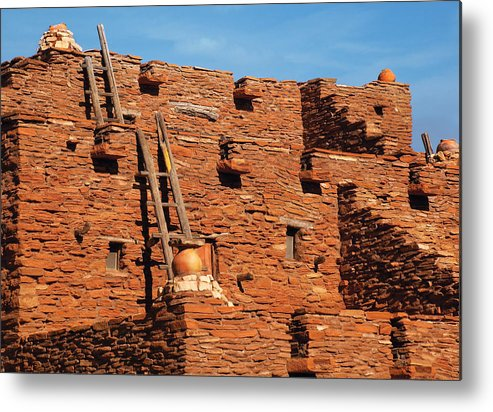 Savad Metal Print featuring the photograph City - Arizona - Pueblo by Mike Savad