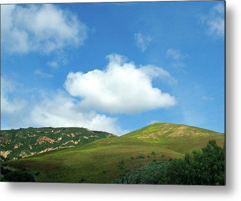 Hills Metal Print featuring the photograph Cloud Over Hills In Spring by Kathy Yates