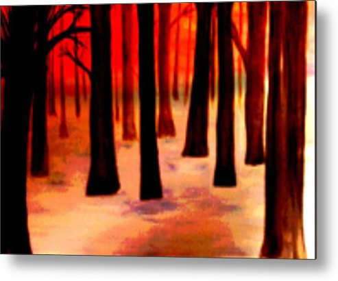 Trees Metal Print featuring the digital art Dream Forest by Klaus Engels