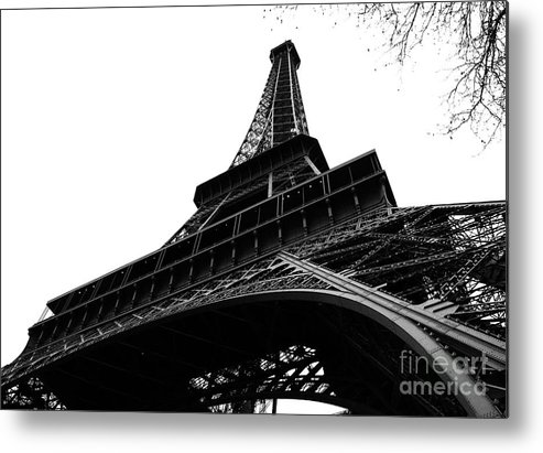 Eiffel Tower Metal Print featuring the photograph Eiffel From An Angle by Joshua Francia