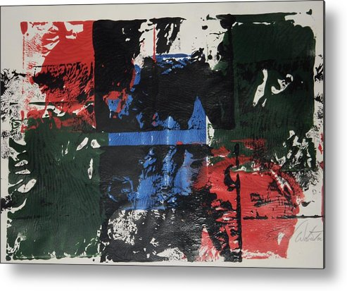 Abstract Metal Print featuring the painting Evil Has Two Sides by Edward Wolverton