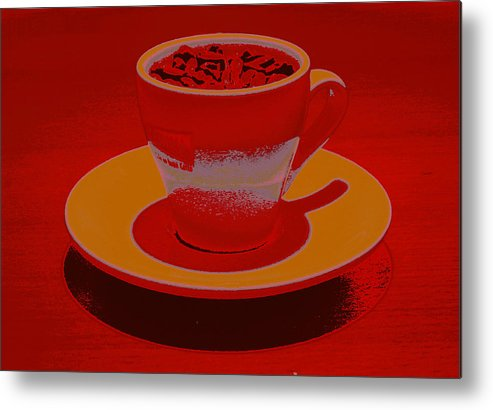 Cafe Metal Print featuring the photograph Expresso.piccolo.inferno by Robert Litewka