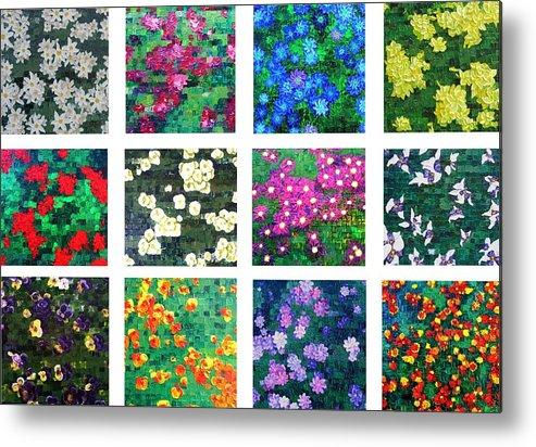 Flowers Metal Print featuring the painting Floralies by Wanda Pepin