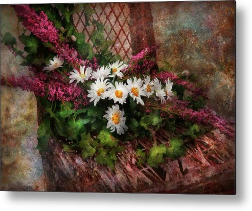 Suburbanscenes Metal Print featuring the digital art Flower - Still - Seat Reserved by Mike Savad
