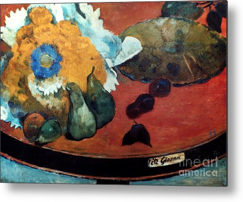 1888 Metal Print featuring the photograph Gauguin: Fete Gloanec, 1888 by Granger