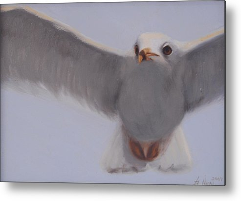 Painting Metal Print featuring the painting Graceful by Greg Neal