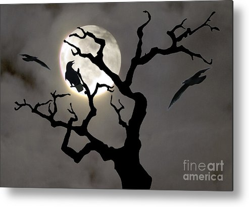Moon Metal Print featuring the photograph Halloween by Jim Wright
