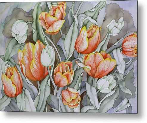 Flowers Metal Print featuring the painting Home Sweet Home 2 by Liduine Bekman