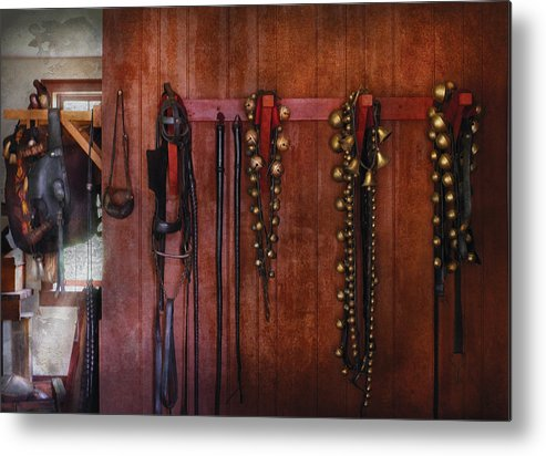 Savad Metal Print featuring the photograph Horse Trainer - Jingle Bells by Mike Savad