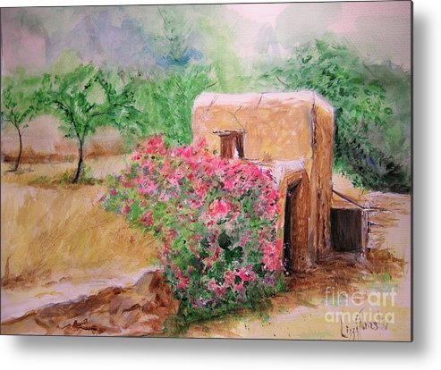 Rustic Metal Print featuring the painting Ibiza Rustica by Lizzy Forrester