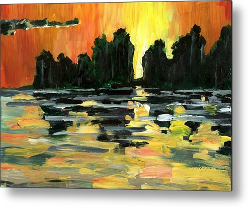 Jungle Metal Print featuring the painting Jalisco Jungle River by Randy Sprout