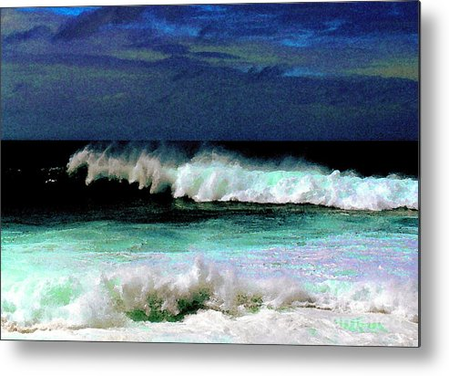 Waves Metal Print featuring the photograph Kaluakoi Surf by James Temple
