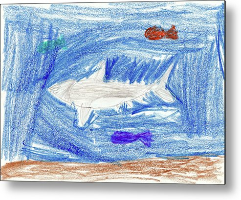 Metal Print featuring the drawing Kason A by Kason A