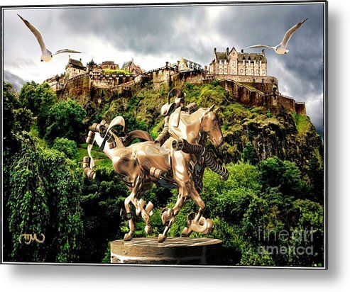 Modern Painting Metal Print featuring the mixed media Keeper Of The Castle 2 by Pemaro