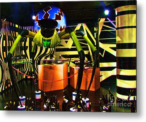 Lady Gaga Metal Print featuring the photograph Lady Gaga Spider by Chuck Kuhn