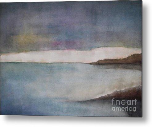 Ocean Metal Print featuring the painting Lagoon Bleu by Vesna Antic
