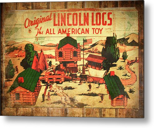 Lincoln Logs Metal Print featuring the photograph Lincoln Logs Retro by Susan Vineyard