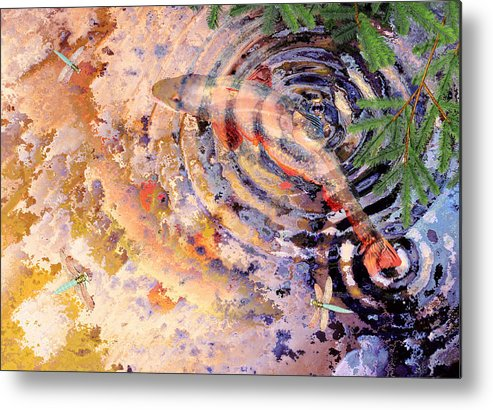 Pond Metal Print featuring the painting Pisces by Peter J Sucy