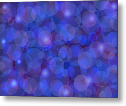 Abstract Metal Print featuring the painting Purple And Blue Abstract by Frank Tschakert