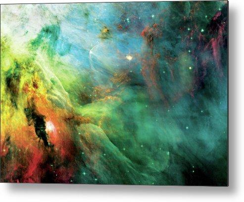 Nebula Metal Print featuring the photograph Rainbow Orion Nebula by Jennifer Rondinelli Reilly - Fine Art Photography