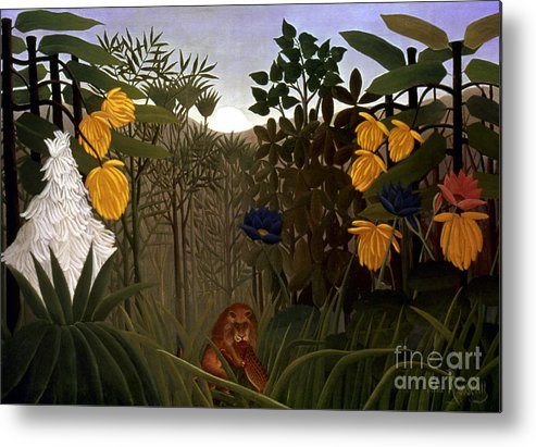 20th Century Metal Print featuring the photograph Rousseau: Lion by Granger