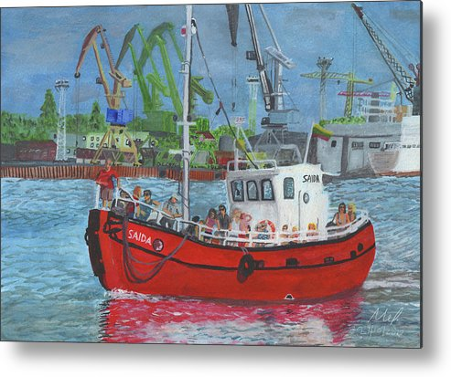 Boat Metal Print featuring the painting Saida by Mel Beasley