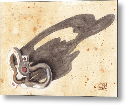 Shackles Metal Print featuring the painting Shackles With Five O Clock Shadow by Ken Powers