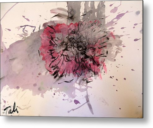 Live Painting Live Music Metal Print featuring the painting Spill The Wine by Tali Farchi
