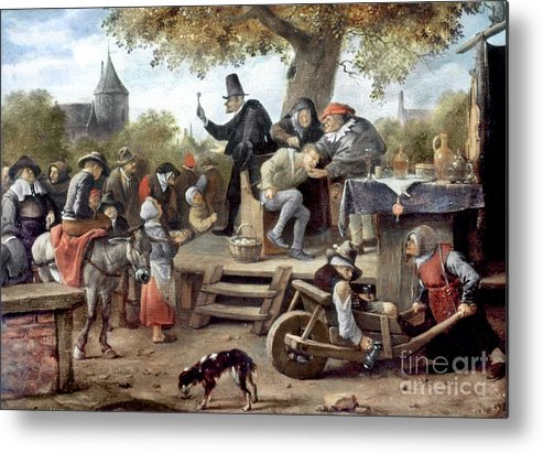 Aod Metal Print featuring the photograph Steen: Quack, 17th Century by Granger