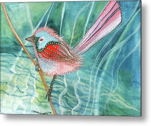Birds Metal Print featuring the painting Summer Pond Daydreams by Lesley Smitheringale