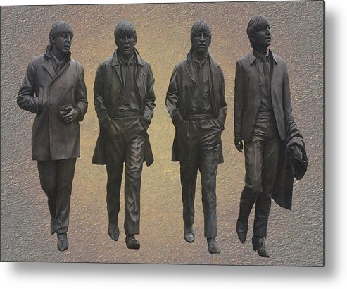 The Beatles Metal Print featuring the mixed media The Beatles by Movie Poster Prints