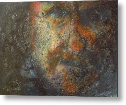 Painting Metal Print featuring the painting The Edge by Todd Peterson