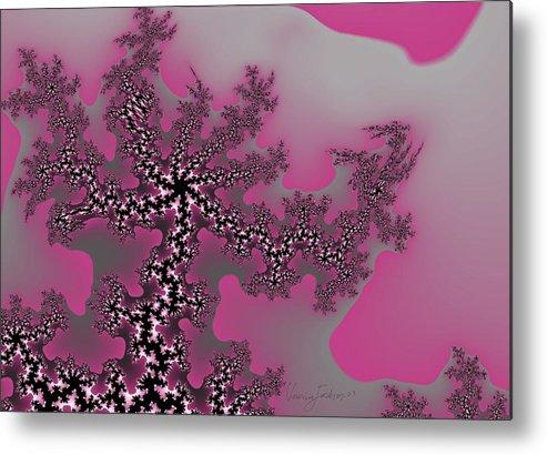 Fractals Tree Nature Oriental Art Metal Print featuring the digital art The Oriental Tree by Veronica Jackson
