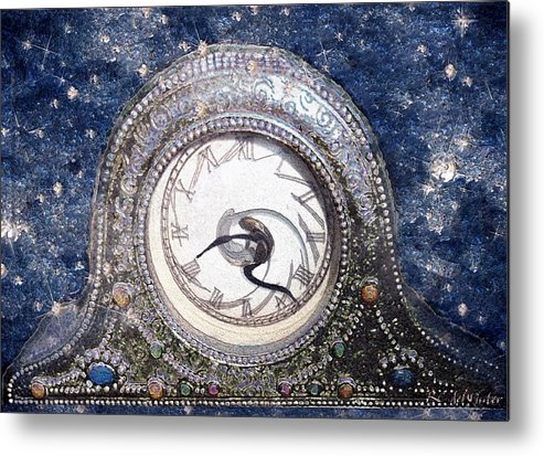 Clock Metal Print featuring the painting Time Warp by RC DeWinter