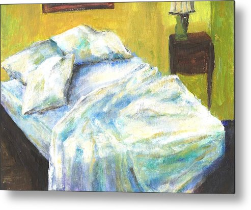 Bed Metal Print featuring the painting Tribute To Marc by Randy Sprout