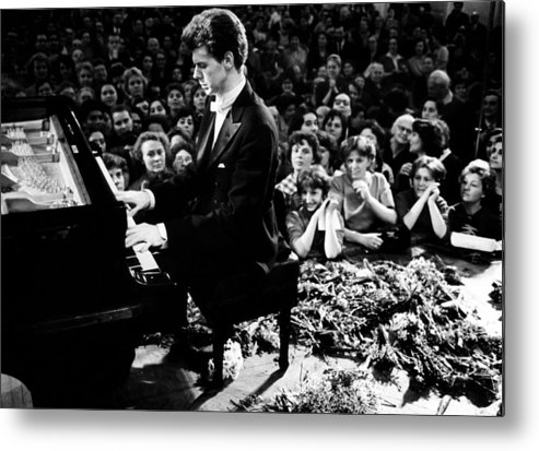1960s Metal Print featuring the photograph Van Cliburn Is The First Foreigner by Everett