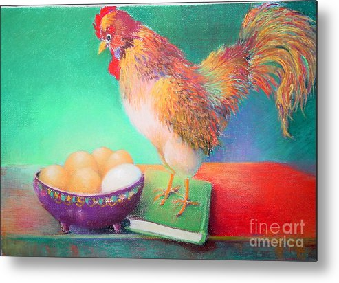 Bird Metal Print featuring the painting Who Is That   Copyrighted by Kathleen Hoekstra