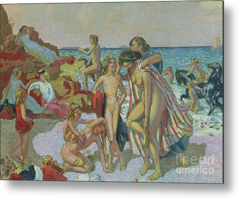 Bacchus And Ariadne Metal Print featuring the painting Bacchus And Ariadne, 1907 by Maurice Denis